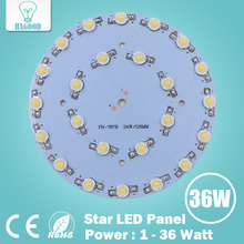10pcs 1W 3W 5W 7W 9W 12W 15W 18W 21W 24W 30W 36W LED Star HIGH POWER with Aluminum Base Plate radiator, LED Board Panel Circular(China)