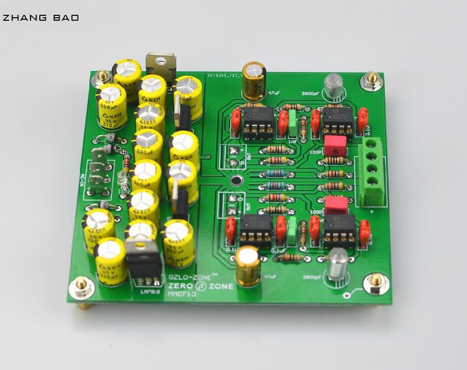 Assembeld MMCF10 Hifi LP Phonograph MM Amplifier / RIAA Phono Preamplifier Board Free ship