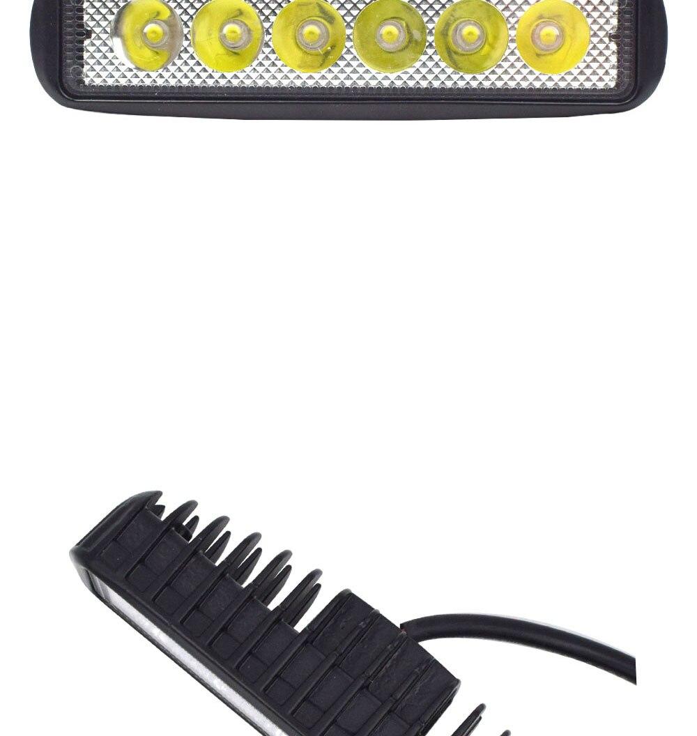 12V 24V Auto LED Light 18W Car Work Lamp Boat Vehicle Top Head Bulb 2000LM IP67 Waterproof Flood Beam Lighting Spot Lights (2)