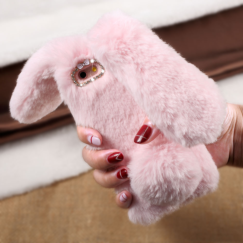 For iPhone 6s Plus Rabbit Bunny Warm Fur TPU Phone Case for iPhone 6s Plus / 6 Plus - 5.5 inch(China (Mainland))