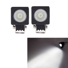 2PCS 10W Cree LED Work Light Modular Flood Hight Power Reverse Lamp 12V 24V Driving Lamp for bicycle motorcycle cars wrangler