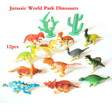 12pcs/set Jurassic World Park Dinosaur 6CM Simulation Model Figures DIY Educational Assemble Blocks Classic Kids Toy(China)