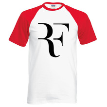 2016 new summer Roger Federer men t shirt RF raglan t shirt fashion 100% cotton hip hop loose t-shirt tops tees brand clothing