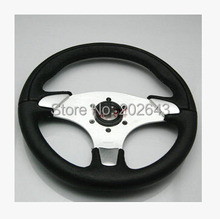 GV-SW300  13''   racing  steering wheels  for car   auto  momo steering wheel with genuine leather universal   for kia rio vw
