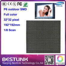 p6 outdoor full color led display screen with led module 192*192mm 8 scan 32*32 pixel rgb led panel for led billboard led sign