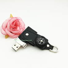 Full capacity pen drive 16gb leather USB flash drive 4GB usb stick 32gb flash disk 64gb usb flash memory 8gb Compass flash drive