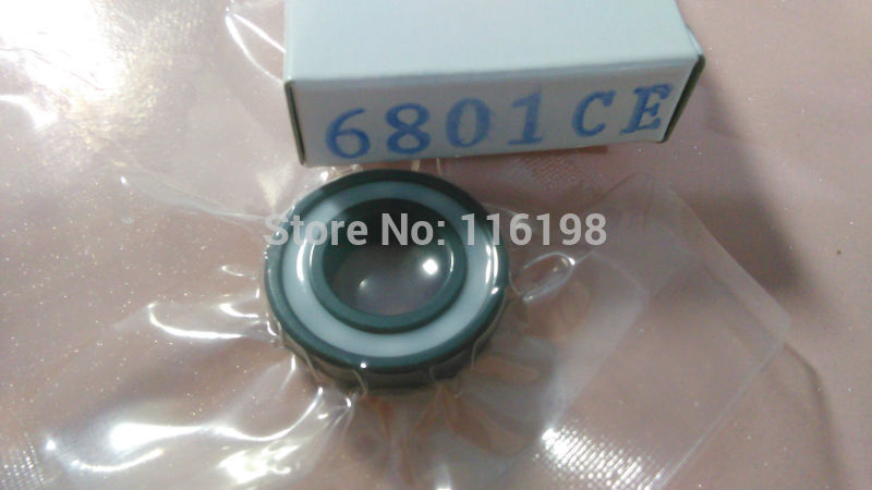 6801 2RS full SI3N4 ceramic deep groove ball bearing 12x21x5mm with seals 61801 2RS bearing P5 ABEC5<br>