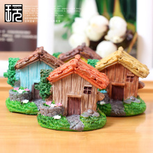 Resin Chalet Crafts Mini House Model Ornament DIY Fairy Garden Miniatures Home/ Succulents/ Micro Moss Landscape Decoration