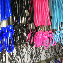 2017 PU Leather Lanyards Neck Strap For Cell Phone Mobile ID Card Key USB Lanyard MP5 4 3 U flash disk Chain Straps Lanyard 100x(China)