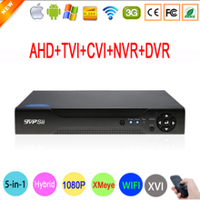 1080P 2mp CCTV Camera 1080N 8 Channel 8CH Surveillance Video Recorder Hybrid 5 in 1 WIFI Onvif NVR TVI CVI AHD DVR Free Shipping