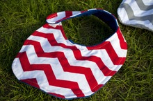 cute toddler girl boy red and white chevron minky baby bib bandana baby bibs organic plain cotton baby bibs(China)