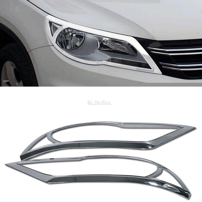 Quality ABS Chrome front headlight cover trim For Volkswagen VW Tiguan 2009 2010 2011 2012<br>