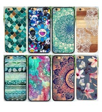 UV Printing Mandala Flower Datura Floral Cell Phone Hard Cases Apple iPhone 5 5S SE 5c 6 S Plus7 7plus Case - Case88 Store store