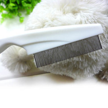 Dog Brush Puppy Dogs Cat Hair Flea Brush Comb Stainless Pin Cleaning Tools(China)