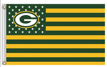 Green Bay Packers USA star stripe NFL Premium Team Football Flag 3X5FT 150X90CM Banner brass metal holes(China)