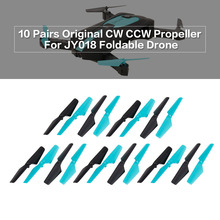 10 Pairs RC Propeller CW CCW RC Part for JUN YI TOYS JY018 Foldable Mini Selfie Drone G-Sensor Quadcopter RC Helicopter Part(China)