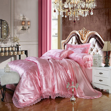 Hot sale 100%cotton Jacquard tribute silk tencel satin duvet cover bedsheet pillowcase brand bed cover quilt cover discount(China)