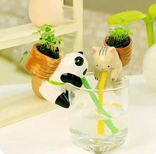 Flower Pots Planters Small Animal Mini Desktop Hydroponic Plants Potted Seeds Bonsai Seeds Indoor Plants Work Desk Decorations