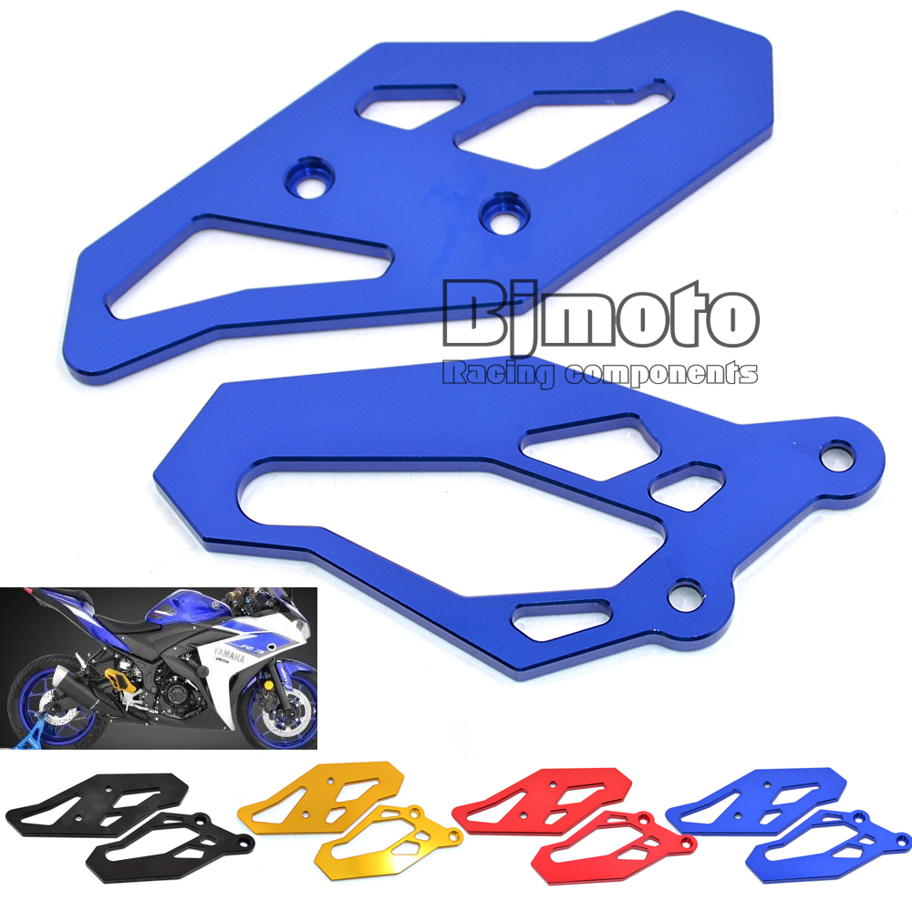 BJGLOBAL- Motorcycle CNC Footrest Rearset Foot Peg Plate Guard Blue For Yamaha YZF R3 2015 2016 YZF R25 2013 2014 2015<br><br>Aliexpress