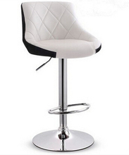 Affordable Good Quality White Leather Furniture Bar Stools Modern(China)