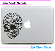 Skull Head Sticker for Macbook Skin Air 11 13 Pro 13 15 17 Retina for Apple Logo Laptop Computer Decal Creative Vinyl Case