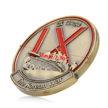 1PC Zinc Alloy Commemorative Coins Military Challenge Art Collection Korean War 38th Parallel IX Corps Challenge Collection Gift