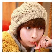 Winter Fashion Women Knitted Berets Hat Stylish Female Warm Beanie Hats Ladies Solid Caps 10 Colors Available