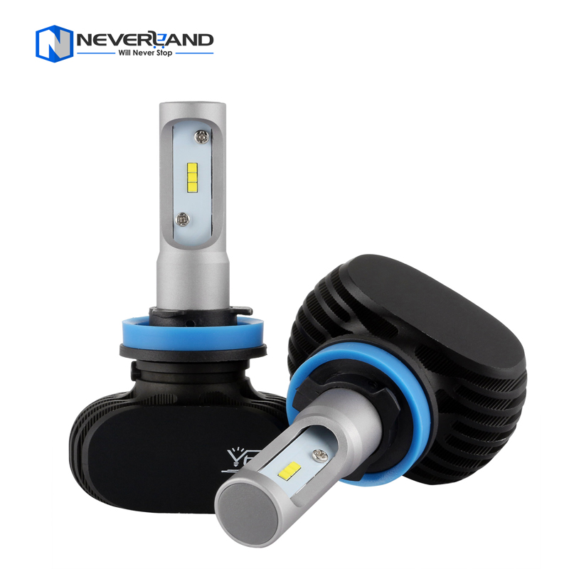 NEVERLAND H11 50W 8000LM 6500K CSP LED Car Headlight Conversion Kit Fog Lamp Bulb DRL Super White<br><br>Aliexpress