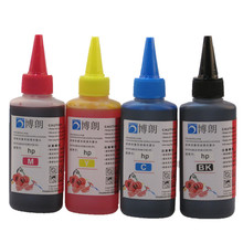 Universal 4 Color Dye Ink For HP,4 Color+100ML,for HP Premium Dye Ink,General for HP printer ink all models(China)