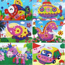 DIY Crystal Mosaic Sticker Kids Children Kindergarten Educational Arts and Crafts Toys - Colors Assorted(China)
