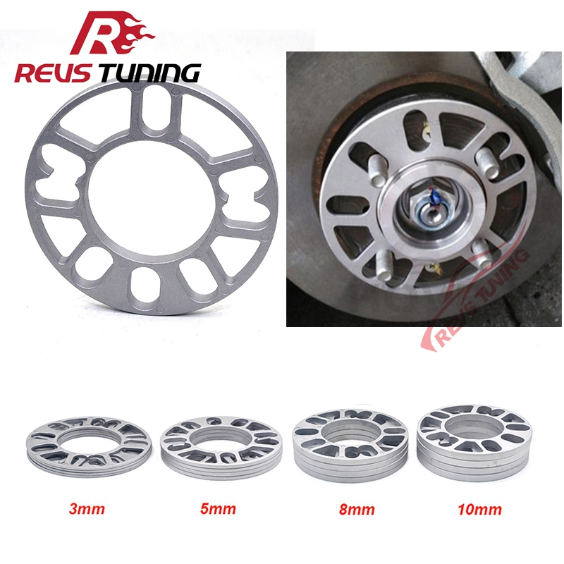 Spacer Car-Wheel Aluminum-Fit 5x100 5x114.3 Shims-Plate Universal 5mm 10mm 8mm 3mm 4pcs/Lot title=