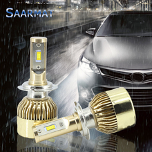 Buy 2xAuto Headlight Bulb H7 LED High Power w/ CREE Chips 11000LM Xenon White 6000K Super Bright Car Head Fog DRL Light Kit for $24.74 in AliExpress store