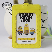 Double Cards for Kids Case Holder Portable String Fashion ID Bus Identity Badge with Lanyard Porte Carte Credit PY015