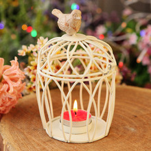 Candlestick zakka candle holder Circular cage candelabrum Creative candler metal handicrafts Home Furnishing ornaments