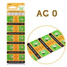 YCDC Hot selling 10pcs AG0 LR521 379 Button Cell Coin Alkaline Battery 1.55V For Watches Toys EE6201
