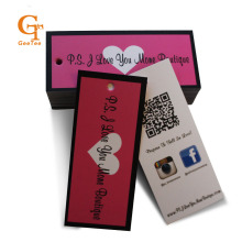 custom logo brand paper price hang tag,personality shop name printing shopping luggage paper labels tags, packaging swing tags