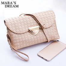 Mara's Dream 2017 Fashion New Quilted knit Hasp top-handle Bags Women Weave Pattern Wallet Sali Shoulder Messenger Bag Handbag