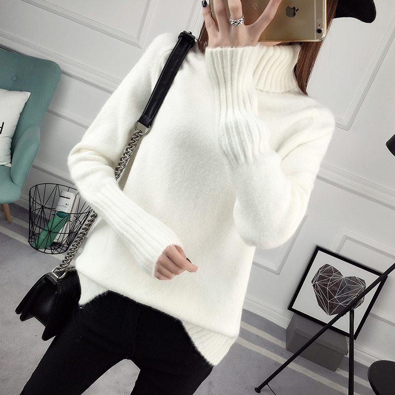 Winter Turtleneck Sweater, Women's 2017 New Design Thick Pullover 36