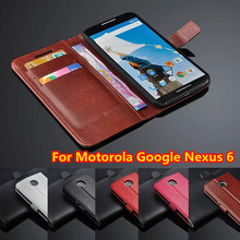 New High Quality luxury wallet Leather Case For motorola google nexus 6 case Flip new cell phone shell cover for motorola nexus6