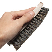 High Quality Professional Wooden Handle Shoes Shine Brush Polish Bristle Horse Hair Buffing Brush