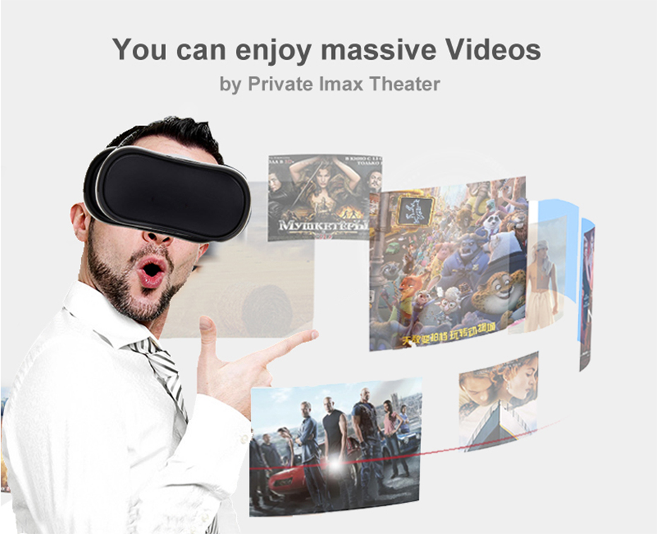 VR Box 3D Virtual Reality Glasses VR Headset for PS 4 Xbox 360 2560* 1440 P 5.5 Inch Screen FHD Display HDMI Quad -Core Nibiru