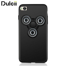 Dulcii for Xiaomi Mi 5 s Hard Cases EDC Tri Fidget Spinner Toy Matte PC Phone Cover for Xiaomi Mi 5s - Black + Black Spinner(China)