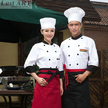 Food Service chef jacket white red black restaurant cook clothes hotel kitchen chefs clothing cook clothing BB079C