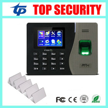 "Buy Linux system biometric fingerprint time attendance recorder 13.56MHZ MF card reader 3"" color screen time attendance for $126.90 in AliExpress store"