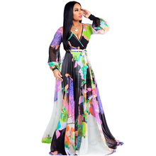 YM-8266 Amazon Quick-sell European and American sexy women s chiffon  V-collar dress 46cb90c7c11c