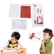 1 Set Electric Motor Paper Airplane Model DIY Power Up Flying Plane Kids Toys(China)