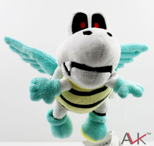 Free Shipping Super Mario Anime Games 15cm Flying Skeleton Turtle Plush Toy Plush Doll(China)