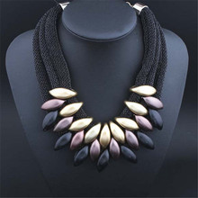 Hot Sale European and American Magazine Style Pendants Necklace Fabric Jewelry for Women