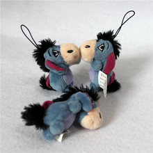 Free Shipping 24pcs/lot 6cm Original winnie bear friend's Eeyore donkey plush pendants toys