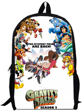 15inch gravity falls Backpack double layer custom made for Boys and Girls Kids Cartoon movie anime student bag1